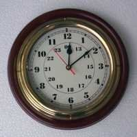 NAUTICAL WOODEN MARINE CLOCK 12