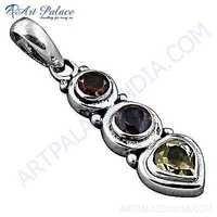 Wholesale Various Styles Multi Gemstone Silver Pendant