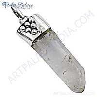 Celeb Style Crystal Gemstone Silver Pendant