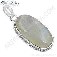 Wholesale Various Styles Rainbow Moonstone Gemstone Silver Pendant