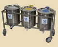 BIOMEDICAL WASTE BIN TROLLEY (ALL S.S. PEDDLE OPERATED)