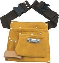 5 POCKET SPLIT LEATHER CARPENTER APRON