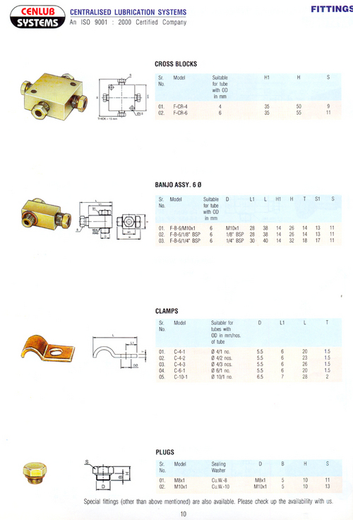 Oil Lubrication Fittings