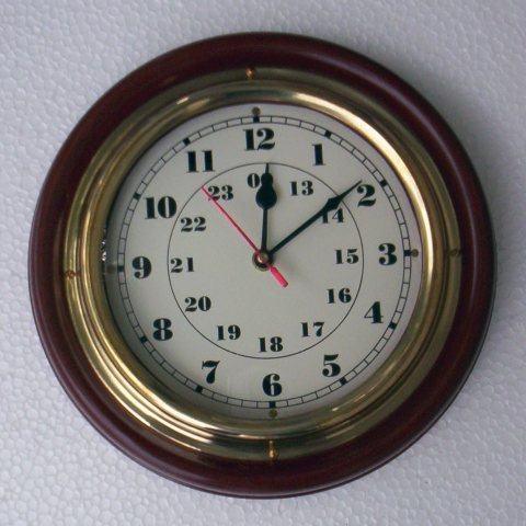 NAUTICAL WOODEN MARINE CLOCK 16