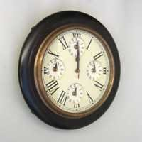 NAUTICAL WOODEN MARINE CLOCK FIVE TIME 14