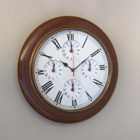 NAUTICAL MARINE CLOCK  FIVE TIME TAPER  16