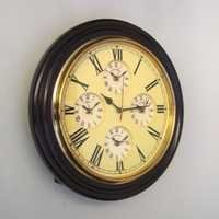 NAUTICAL MARINE WALL CLOCK FIVE TIME TAPER 16