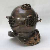 NAUTICAL ALUMINUM DIVERS HELMET MARK FIVE 18