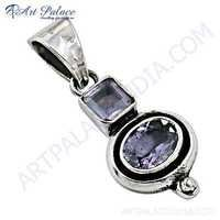 Latest Amethyst Gemstone Silver Pendant