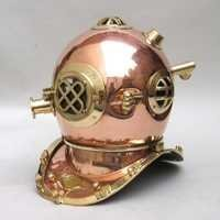 NAUTICAL COPPER DIVERS HELMET MARK V 6