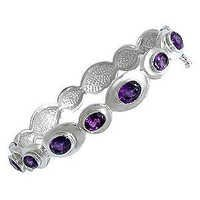 heavy bracelet in silver and gemstone,silver swirl