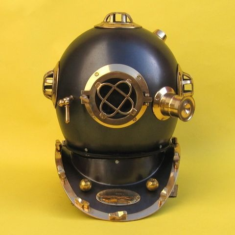 NAUTICAL IRON & BRASS  DIVERS HELMET MARK V 17