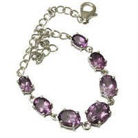 blue stone mens bracelet,2013 latest silver bracelet for wholesale, brazil amethyst silver