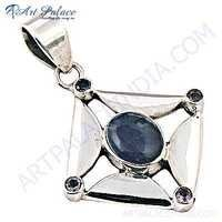 Exclusive Amethyst Gemstone Silver Pendant