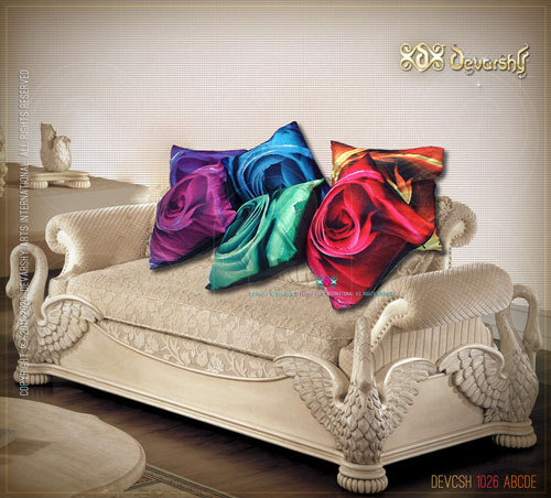 Digital Print Rose Cushion Covers