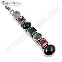 Newest Style Multi Stone Sterling Silver Pendant
