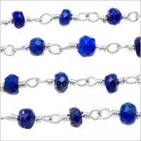 LAPIS Silver Wire Wrapped Chain