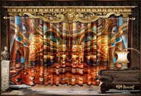Digital Print Royal Roman Palace Curtains Set