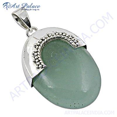 Unique Chalci Gemstone Sterling Silver Pendant