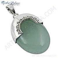 Unique Chalci Gemstone Sterling Silver Pendant