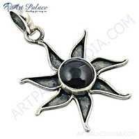 Celeb Star Style Garnet Gemstone Sterling Silver Pendant