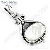 Precious Antique Pearl Sterling Silver Pendant