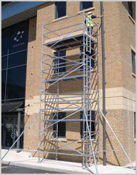 Mobile Aluminium Scaffold Ladder