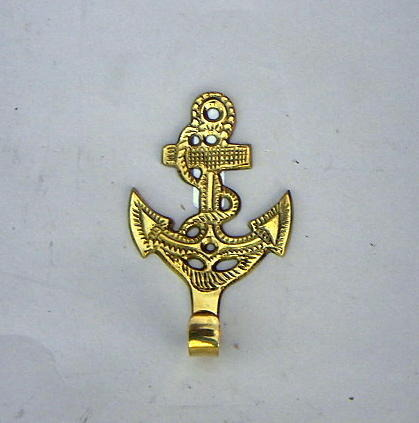 NAUTICAL SOLID  BRASS KEY HOLDER  ANCHOR 4