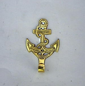 """NAUTICAL SOLID  BRASS KEY HOLDER  ANCHOR 4"""""""