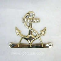 NAUTICAL BRASS  KEY HANGER ANCHOR CHAIN  6 X 5