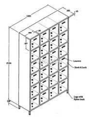 SS 24 Locker Cabinet