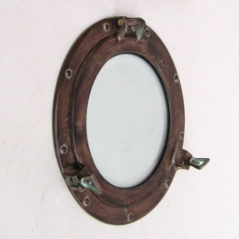 NAUTICAL ALUMINIUM GLASS PORTHOLE ANTIQUE 12