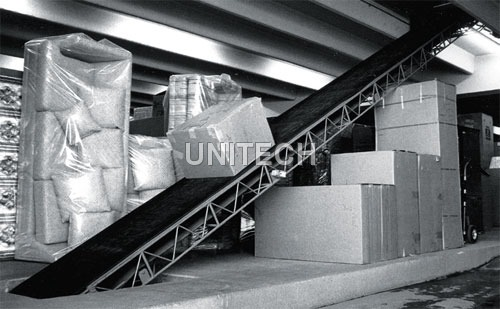 Inclined Material Handling Conveyor