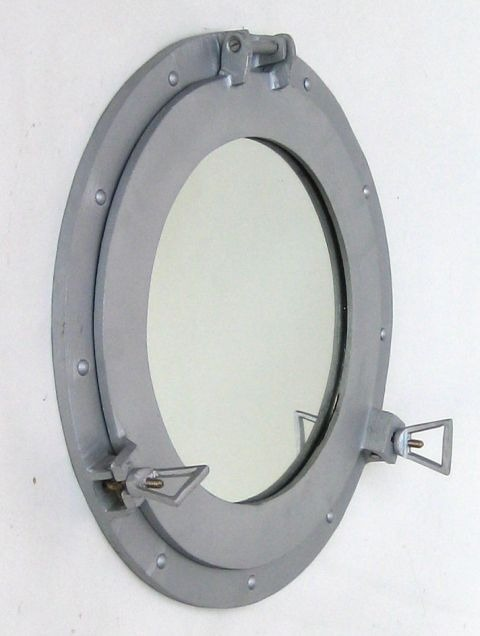 NAUTICAL ALUMINIUM PORTHOLE MIRROR 15