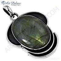 Attention Stylish Labradorite Gemstone Silver Pendant