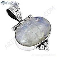 Wholesale Handmade Rainbow Moonstone Silver Pendant