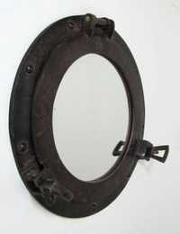 NAUTICAL PORTHOLE MIRROR ALUMINIUM RUST 12