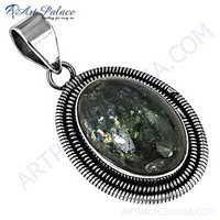 Graceful Glamour Labradorite Gemstone Silver Pendant