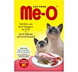Me-O Jelly Red Snapper Cat Food