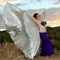 Silver Belly Dance Isis Wing