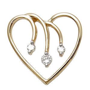 valentines day jewellery, Heart pendant in gold, cheap diamond pendants wholesale