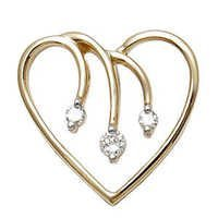 valentines day jewellery, Heart pendant in gold, cheap diamond pendants wholesale