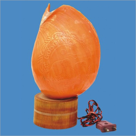 Red Pathiram Shell Lamp