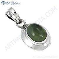 Rady to Wear Prenite Gemstone Silver Pendant