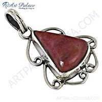 Fashionable Rodecrosid Gemstone Sterling Silver Pendant