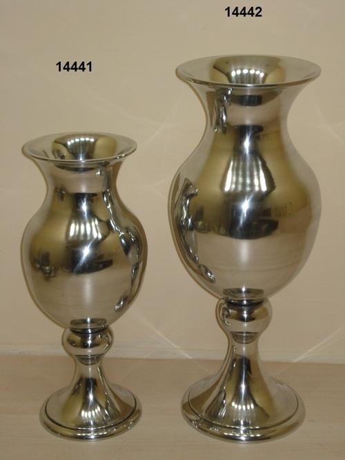 Nickel Finish Flower Vase