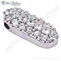 Glamour Graceful Cubic Gemstone Silver Pendant
