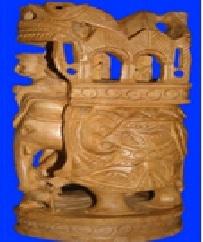 Antique Wood Indian Elephant