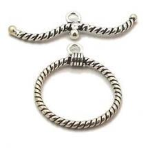 Silver Large Toggle