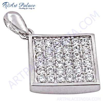 Latest Fashionable Cubic Zirconia Silver Pendant